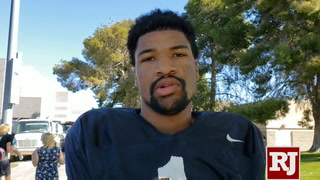 Armani Rogers on UNLV's spring game