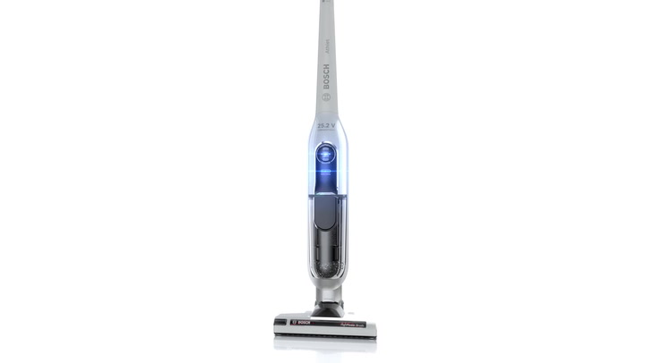 Preview image of Bosch  Athlet Slim Cordless Bagless Upright Vacuum video