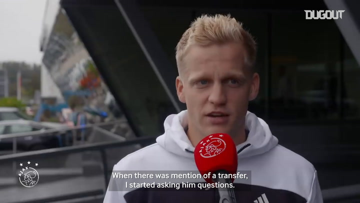 Donny van de Beek looks ahead to joining Manchester United