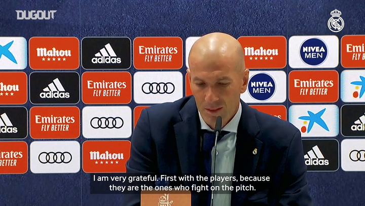 Zidane: 'It's an incredible emotion to win LaLiga'