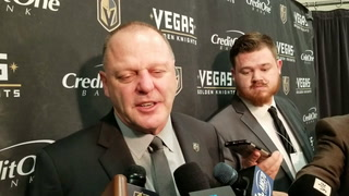 Golden Knights coach Gerard Gallant on win over Anaheim