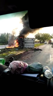 Rastra embiste a motociclista en Puerto Cortés