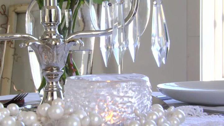 Interiør: Hvordan dekke et hvitt festbord til jul