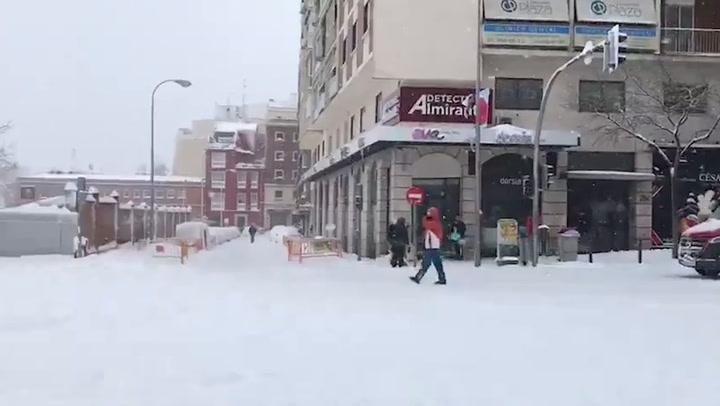 Madrid afectado por el temporal de nieve Filomena