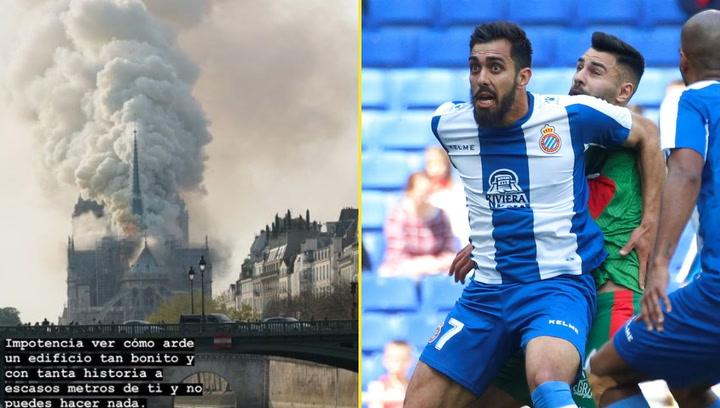 Borja Iglesias, testigo del incendio de la catedral de Notre Dame