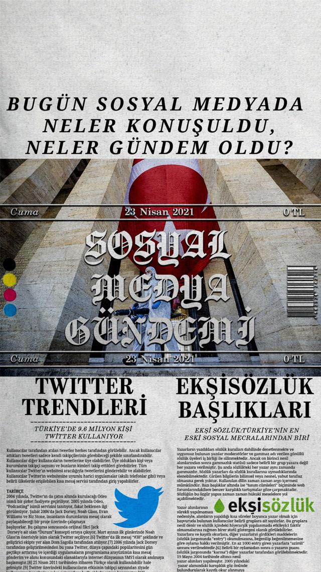 Sosyal medyayı sallayanlar - 23 Nisan