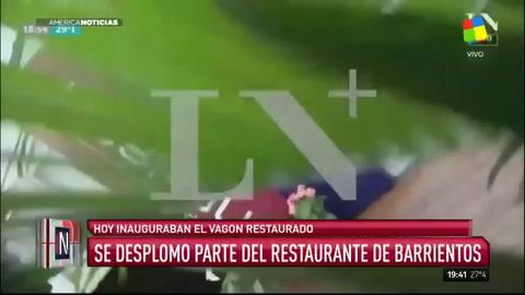 Derrumbe en inauguración del restaurante de Margarita Barrientos