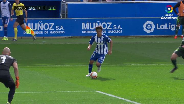 LaLiga: Alavés - Eibar (1-1). Gol de Inui (1-0)