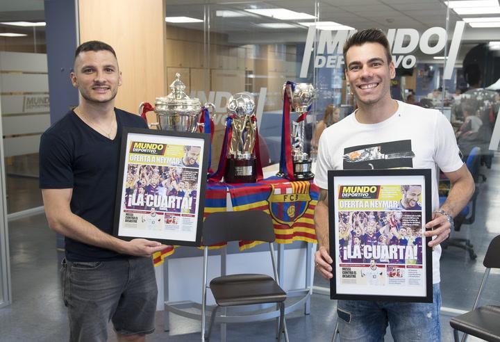 Entrevista con Dyego y Sergio Lozano, capitanes del Barça Lassa tricampeón de fútbol sala