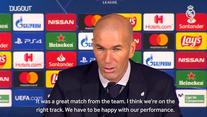 Zidane: 'The team put in an amazing performance'