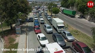Paro de transporte provoca caos en la capital hondureña
