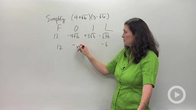 Multiplying and Distributing Radical Expressions - Problem 3