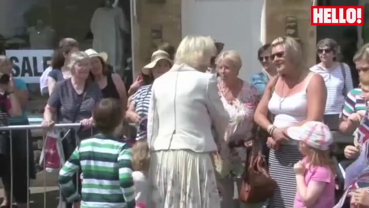 Prince Charles and Camilla soak up the sun in Rutland