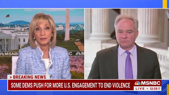 Kaine: 'Troubled' by Lack of Response by Biden Admin on Israel Conflict