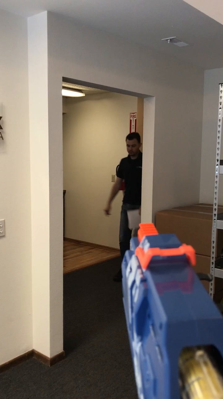 Dude Shoots A Nerf Dart At His Brother, Sinks It Perfectly In His Mouth