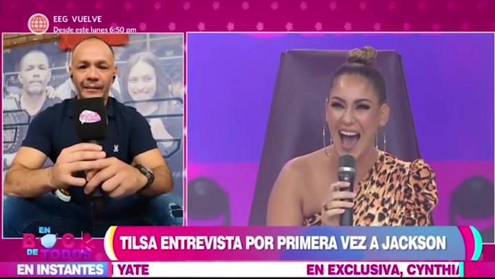 Tilsa Lozano se sonrojó por la revelación de su pareja Jackson Mora