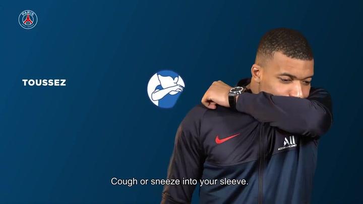 Mbappé, Marquinhos y Verratti colaboran en una campaña del PSG para prevenir el coronavirus