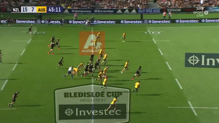 Los All Blacks derrotan a los Wallabies en la Copa Bledisloe de rugby