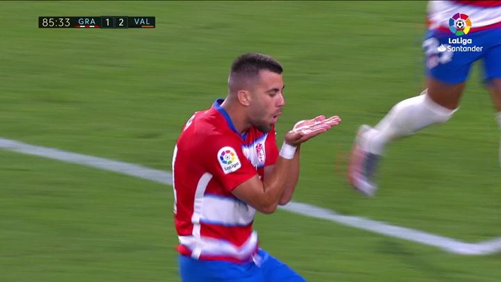 Gol de Fede Vico (2-2) en el Granada 2-2 Valencia