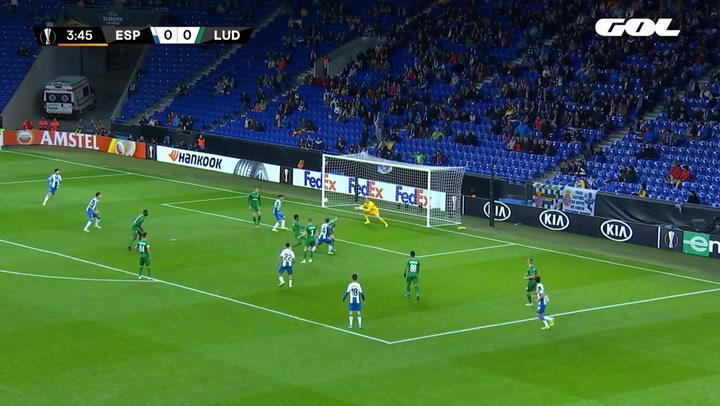 Europa League Espanyol-Ludogorets. Gol de Melendo (1-0)