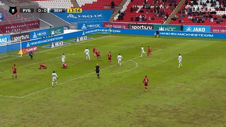 Zenit bows to Rubin at stoppage time