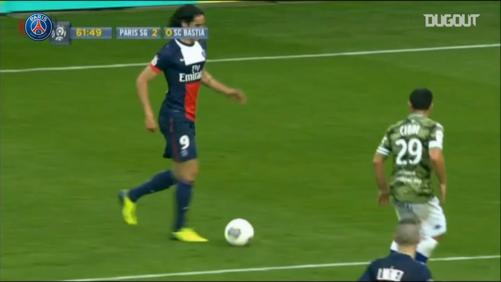 Incredible Goals: Cavani Vs Bastia In 2013