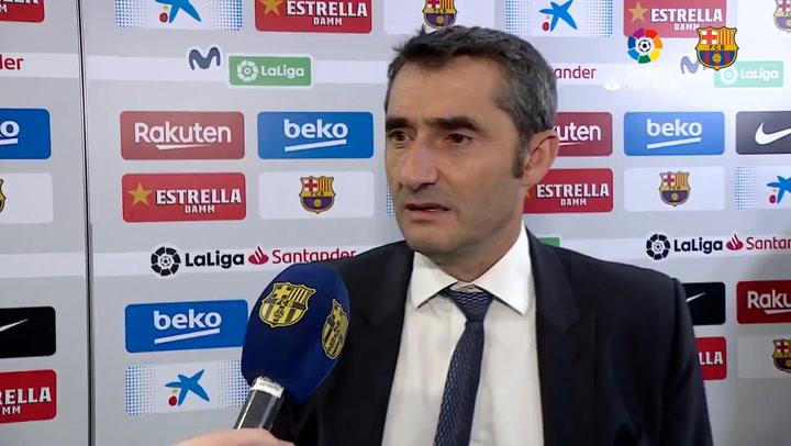 "Valverde: ""La roja a Dembélé es un misterio"""