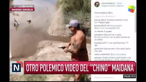 Polémico video del  Chino Maidana  en el que dispara con un arma