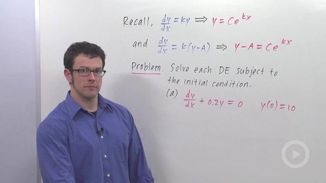 The Differential Equation Model for Exponential Growth - Problem 3