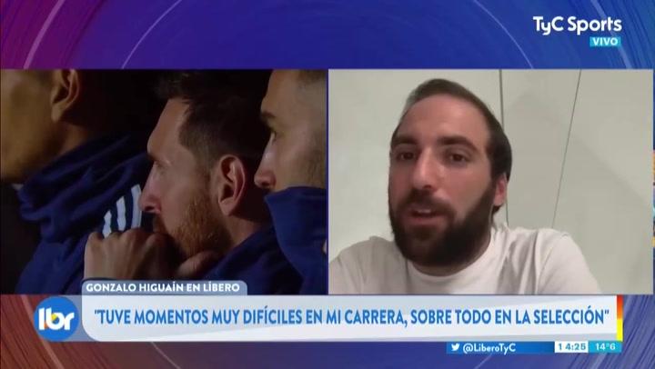 """Higuaín: """"Si a Lautaro le llama el Barça, y con Messi, es muy difícil decir 'no'"""""""