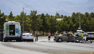 9 injured in North Las Vegas crash Saturday – VIDEO