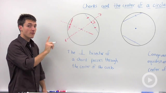 Chords and a Circle's Center