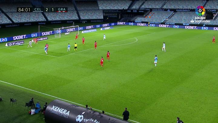 Gol de Fran Beltrán (3-1) en el Celta 3-1 Granada
