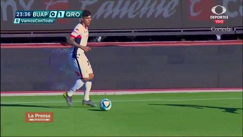 Gol de Michaell Chirinos con Lobos BUAP ante Querétaro en Liga MX