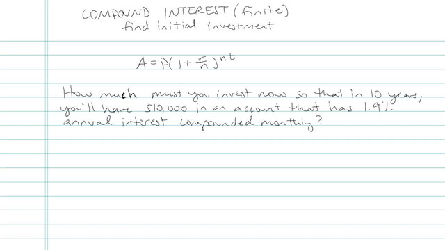 Compound Interest (Finite Number of Calculations) - Problem 3