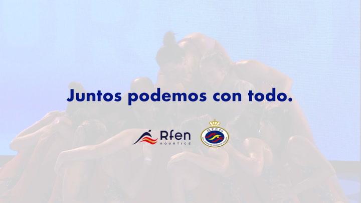 La Real Federación Española de Natación crea un vídeo para agradecer al gremio de sanitarios su  esfuerzo