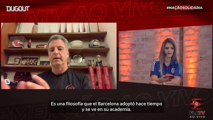 El presidente del Flamengo habla sobre cómo se inspiraron en la filosofía del Barcelona