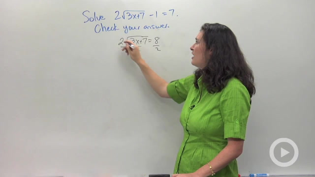 Solving Radical Equations - Problem 2