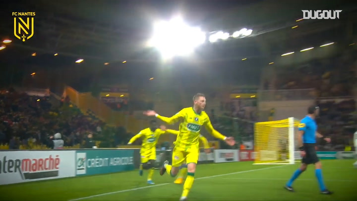 Renaud Emond's first goal with FC Nantes