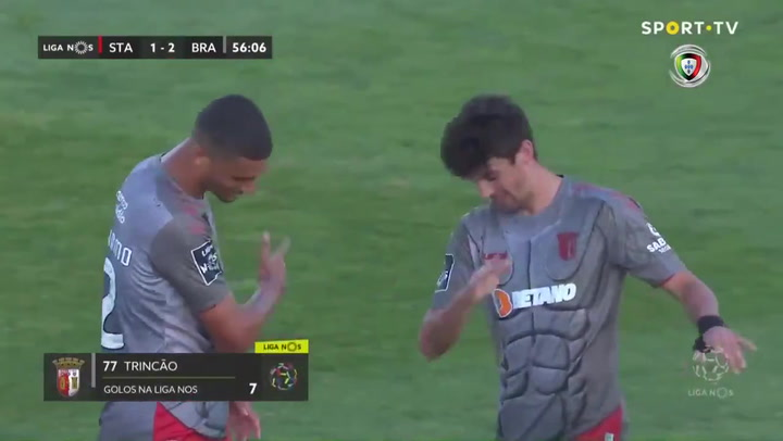 Trincao marca para el Sporting de Braga contra el Santa Clara