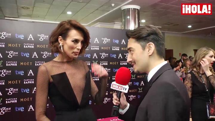 Nieves Álvarez, espectacular en los Goya: \'Es una gala donde puedes lucir estos vestidos\'