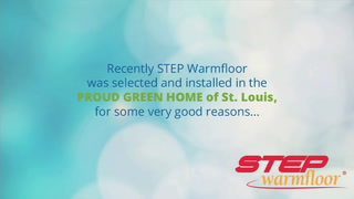 Radiant floor heating warms the Proud Green Home of St. Louis