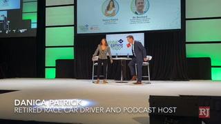 Danica Patrick speaks at G2E Global Gaming Expo