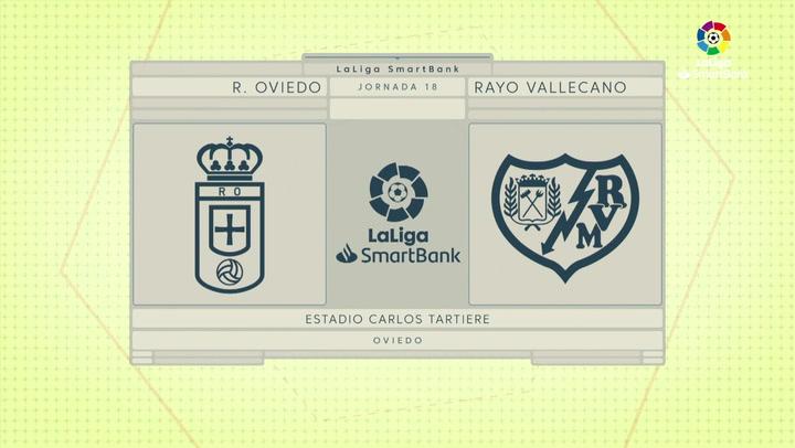 LaLiga SmartBank (J18): Resumen y goles del Real Oviedo 2-1 Rayo Vallecano