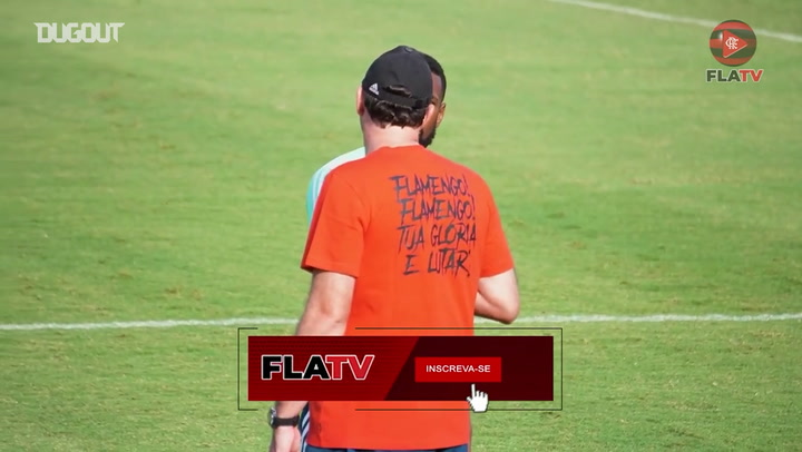 Flamengo complete the first training session of the week