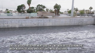 Two people rescued from Las Vegas Wash – Video