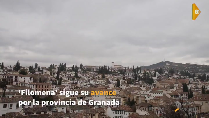 La borrasca Filomena' juega con la ilusión de una posible nevada en la ciudad de Granada