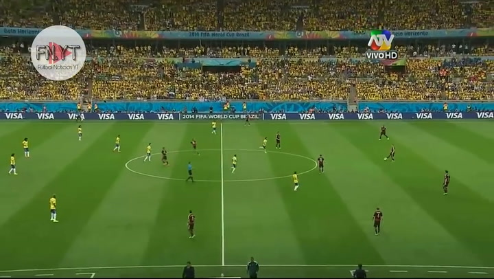 Goleada histórica Mundial Brasil 2014: Brasil 1-Alemania 7
