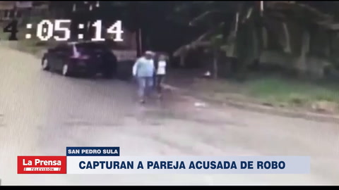Capturan a pareja acusada de robo en San Pedro Sula