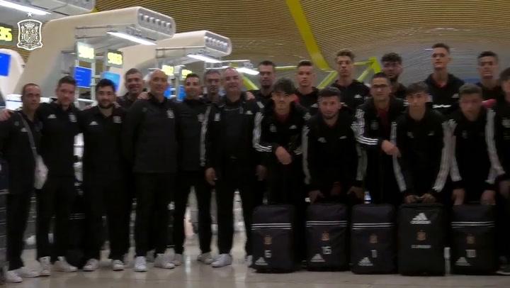 Pedri y sus compañeros de la Selección ya se encuentran concentrados de cara al Mundial sub-17